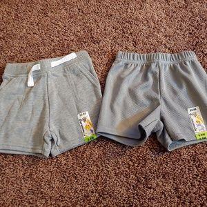 NWT garanimals gray bundle of 2 boys shorts